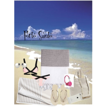 On the beach creato con Polyvore